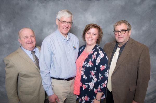 2019 Iowa Division officers. From L to R: Larry Shover, Treasurer; Bruce Brockshus, Vice Chair; Jonna Schutte, Secretary; Dan Hotvedt, Chair.