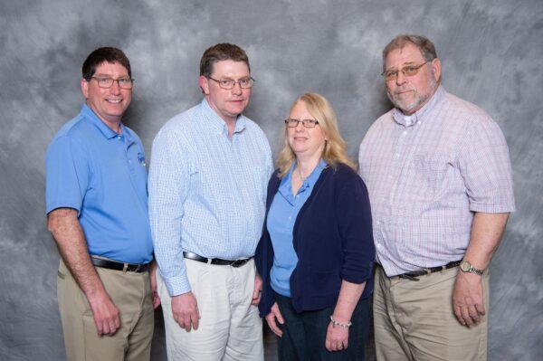2019 Illinois Division officers. From L to R: Bill Deutsch, Chair; David Jarden, Vice Chair; Amy Hildebrandt, Secretary; Glen Meier, Treasurer.