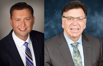 Left: Former Midwest Dairy CEO Lucas Lentsch, right: Dairy Management, Inc. CEO Tom Gallagher.