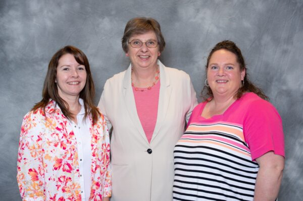 2019 Nebraska Division officers. From L to R: Joyce Racicky, Chair; Mary Temme, Vice Chair; Jodi Cast, Secretary/Treasurer.