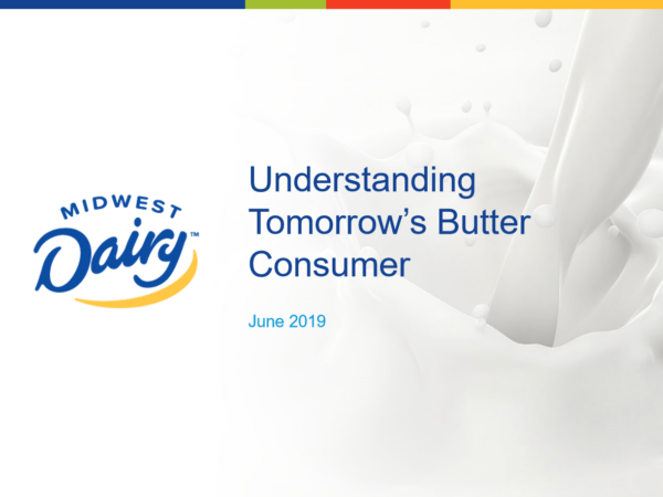 Understanding Tomorrow's Butter Consumer Title Page